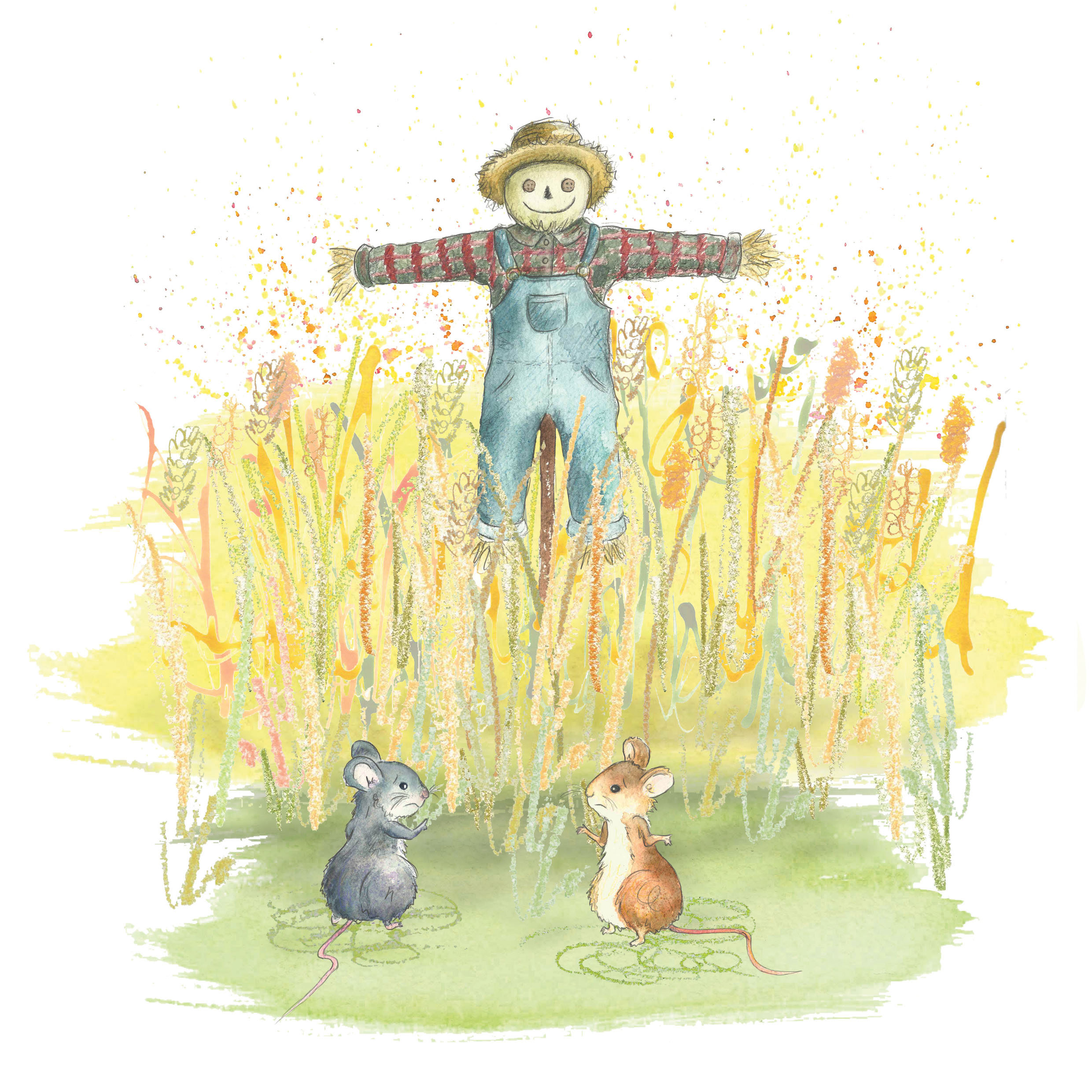 Scarecrow and Field Mice