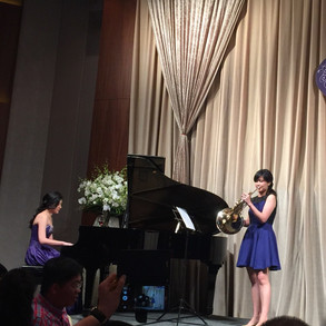 Horn and Piano Duet Performance