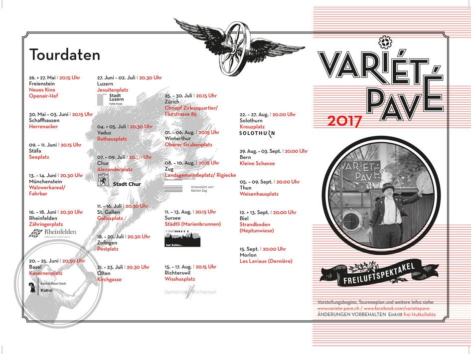 Tourneeplan 2017