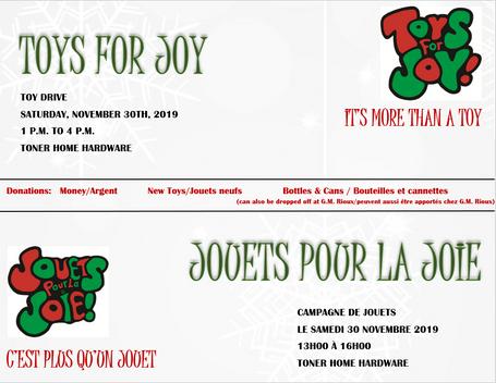 Toys for joy / Jouets pour la joie