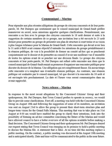 Communiqué / News Release