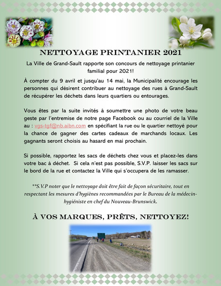 Nettoyage printanier / Spring Cleaning (click on post for english poster)