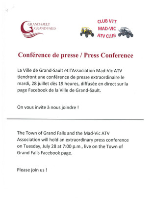 Conférence de Presse / Press Conference