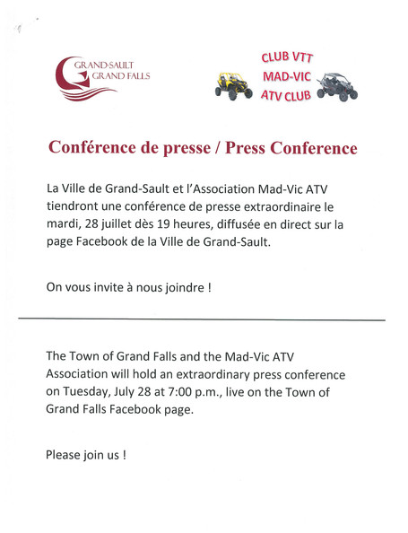 Conférence de Presse / Press Conference