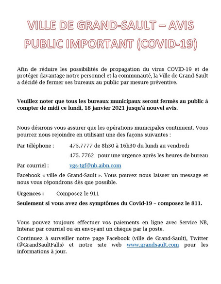 Avis / Notice