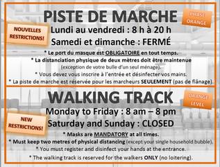 Restrictions de phase orange au CEPS / Orange phase restrictions at E&P Sénéchal Center