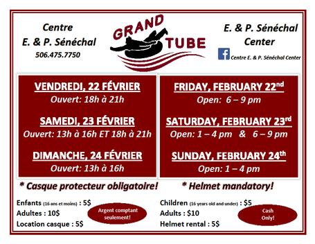 Horraire Grand Tube Schedule