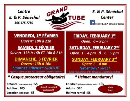Horraire - Grand Tube - Schedule