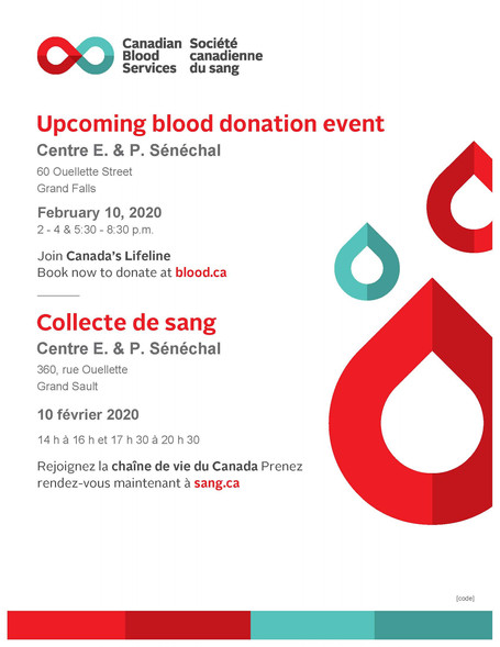 Collecte de sang / Blood donation event