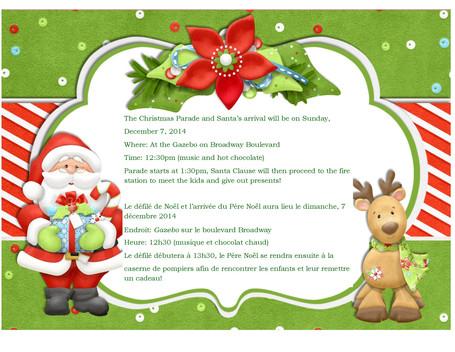Christmas Parade / Défilé de Noël
