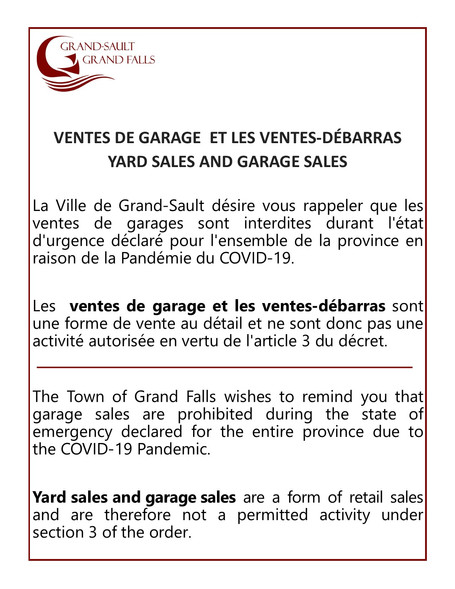 Ventes de garage et les ventes-débarras / Yard Sales and Garage Sales
