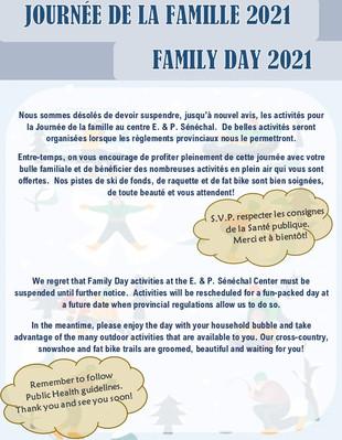 Journée de la famille / Family Day
