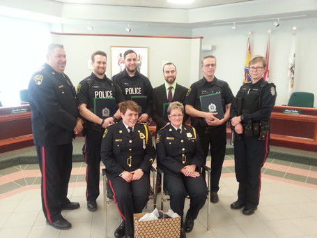 Hommage à six policiers de Grand-Sault