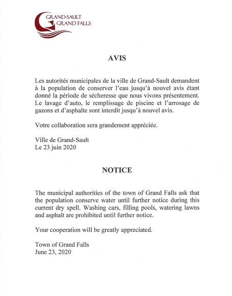 Avis important / Important Notice