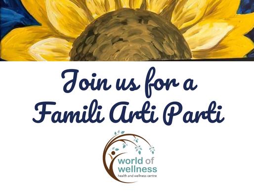 Famili Arti Parti - Book your spot today!