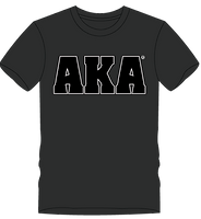 mens T charcoal grey black AKA logo.png