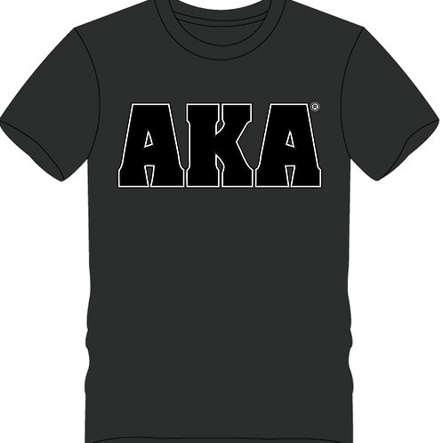 Men's AKA Classic Dark Grey T-shirt w Black Logo