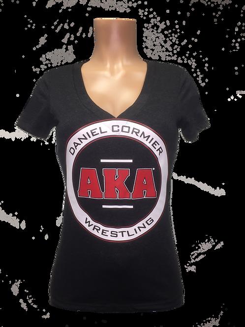 Women's  Daniel Cormier-AKA Wrestling Black V-Neck