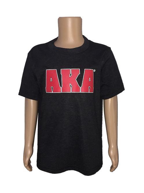 YOUTH AKA w Red Logo Black T-shirt