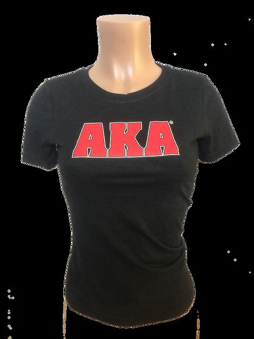 Women's AKA Black T-Shirt