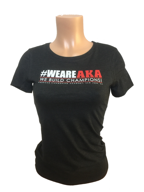 Women's #WEAREAKA Black T-Shirt