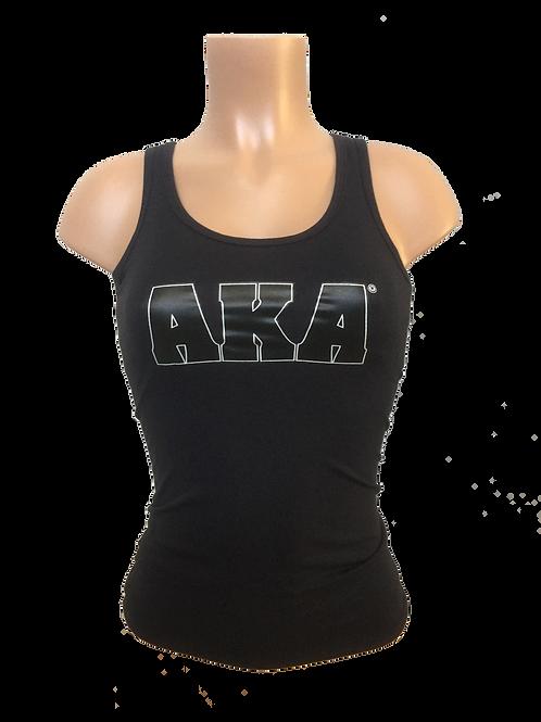 Women's Black with Black AKA Tank Top