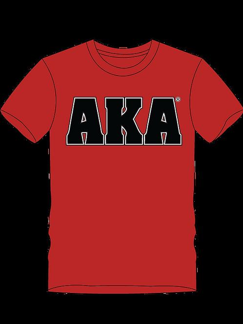 Men's AKA Classic Red T-shirt w Black Logo