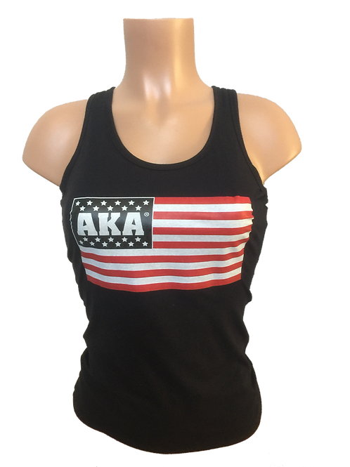 Women's AKA Flag Black Tank Top