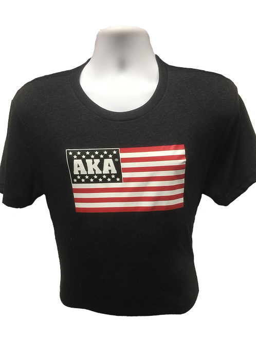 Men's AKA Flag Black T-shirt