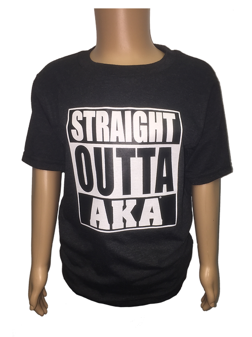 "YOUTH ""Straight OUTTA AKA"" Black T-shirt"