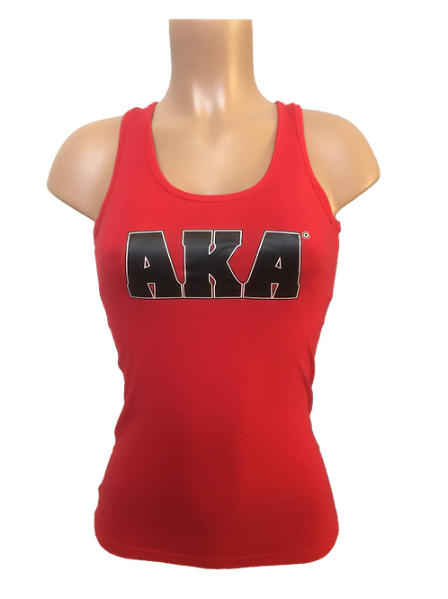 Women's Red with Black AKA Tank Top