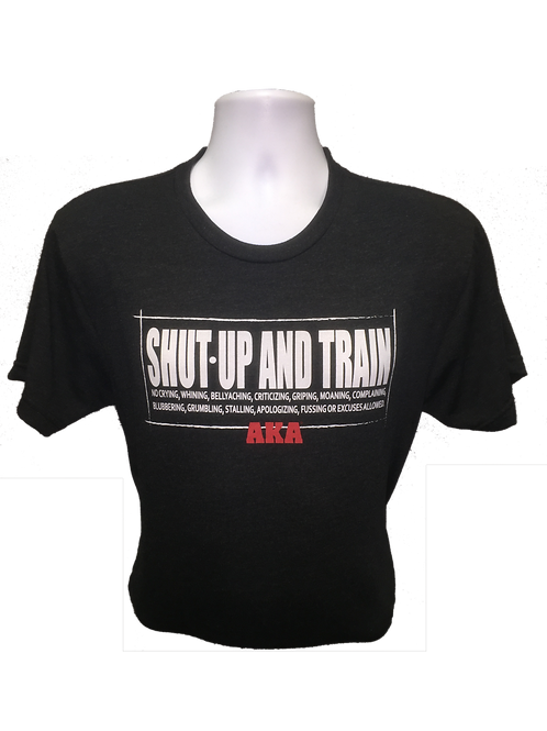 "Men's ""Shut Up and Train"" Black T-shirt"