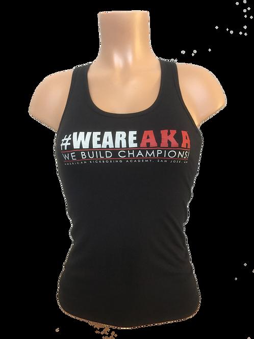 Women's #WEREAKA Black Tank Top
