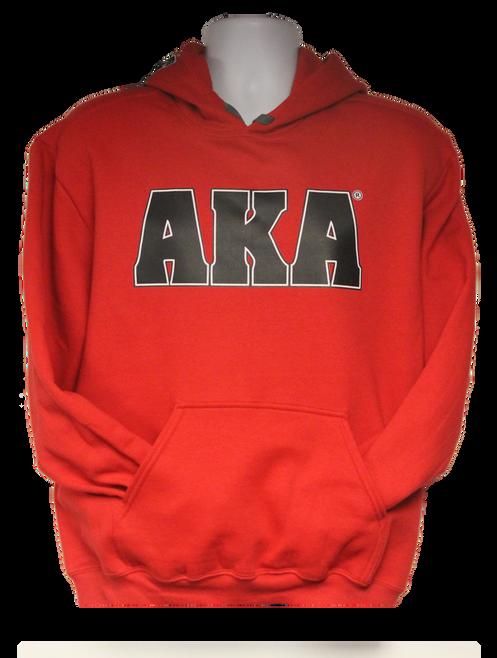 4a27b0a5f7 Unisex ADULT & YOUTH AKA Classic Red Hoodie w Black Logo