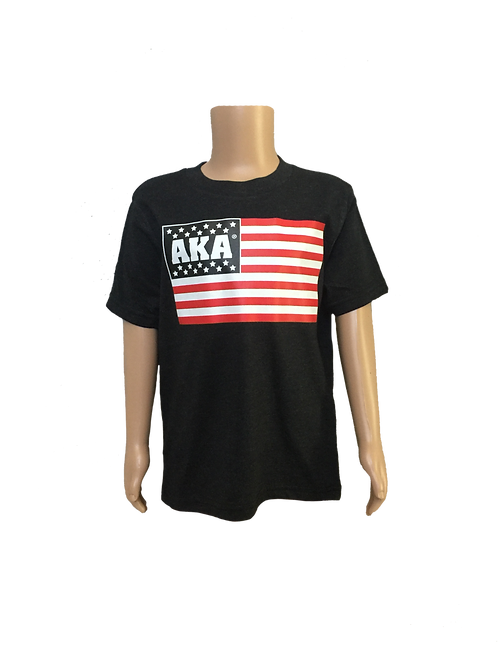 YOUTH AKA Flag Black T-shirt