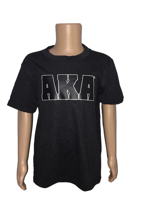 YOUTH AKA w Black Logo Black T-shirt