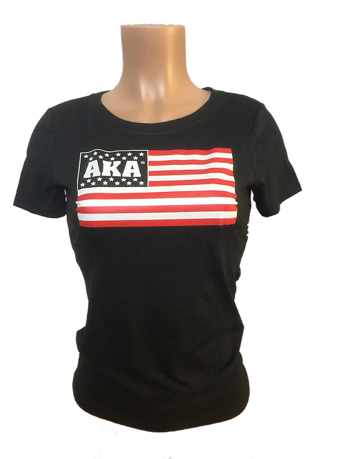 Women's AKA Flag Black T-Shirt