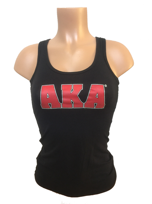 Women's Black with Red AKA Tank Top
