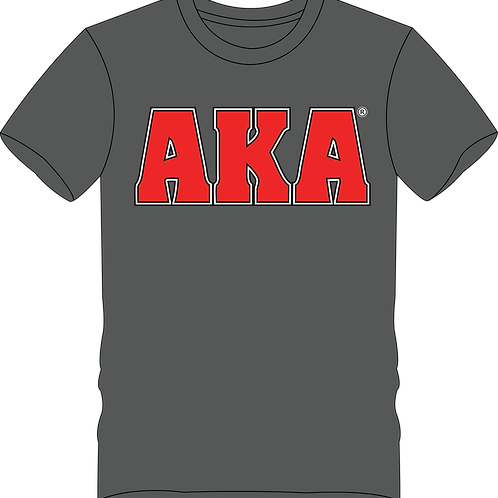 Men's AKA Classic Grey T-shirt w Red Logo