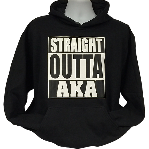 "Unisex ADULT & YOUTH ""Straight OUTTA AKA"" Black Hoodie"
