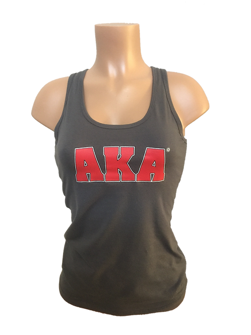 Women's Grey with Red AKA Tank Top
