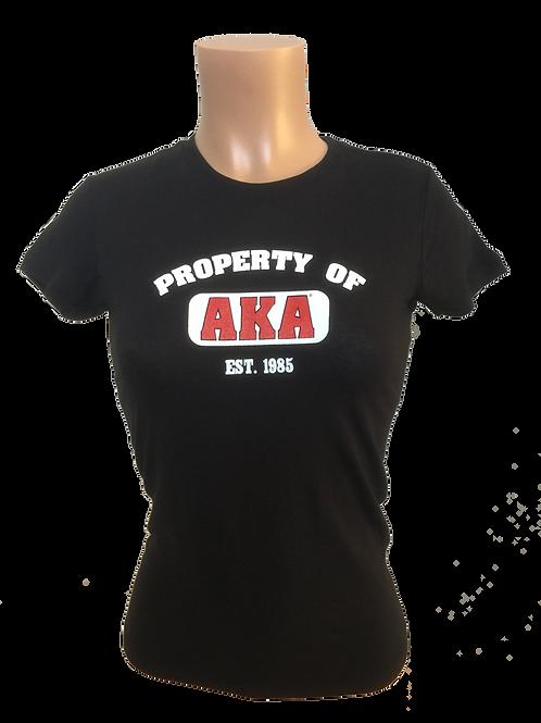 Women's Property of AKA Black T-Shirt