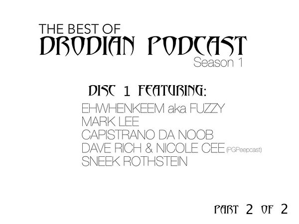 DRODIAN PODCAST SEASON 1 DISC 1