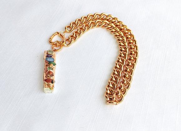 Chocker corrente  dourada Sete Chakras