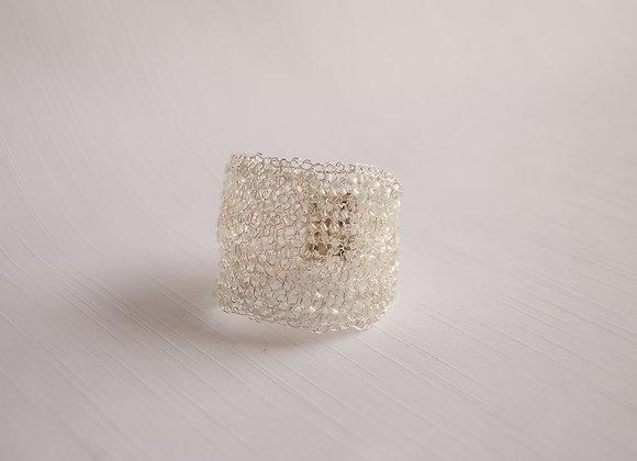 Bracelete banho a prata e vidrilhos