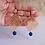 Thumbnail: Brinco Reta ouro jade safira azul 1/5