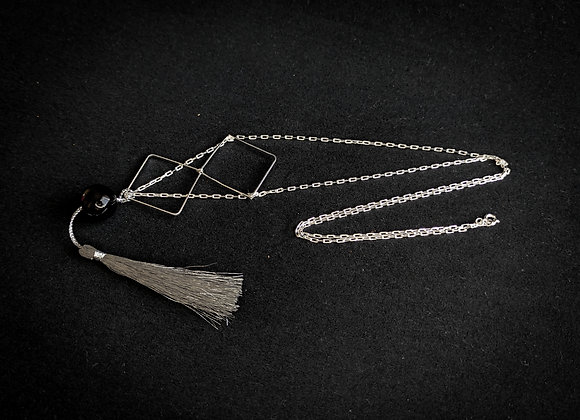 Corrente prata longa losangolos
