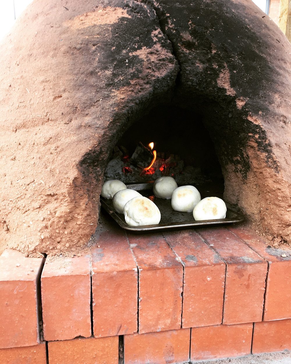 Pop Up Cookery Class - Making Bread in the earth oven