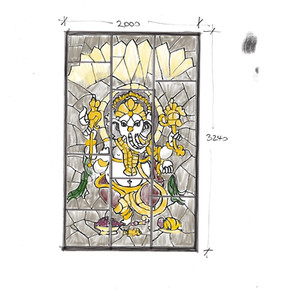 Stained Glass Temple design