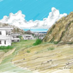 Mountain side villas complex